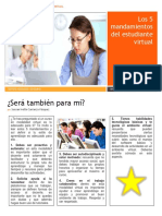 5 mandamientos estudiante virtual