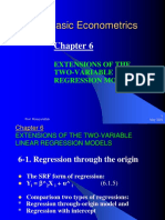 7basic Econometrics Chapter Vi