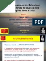 Presentazione -Archeoastronomia-La Funzione Calendariale Del Cavaneo Dello Spirito Santo a Lerici