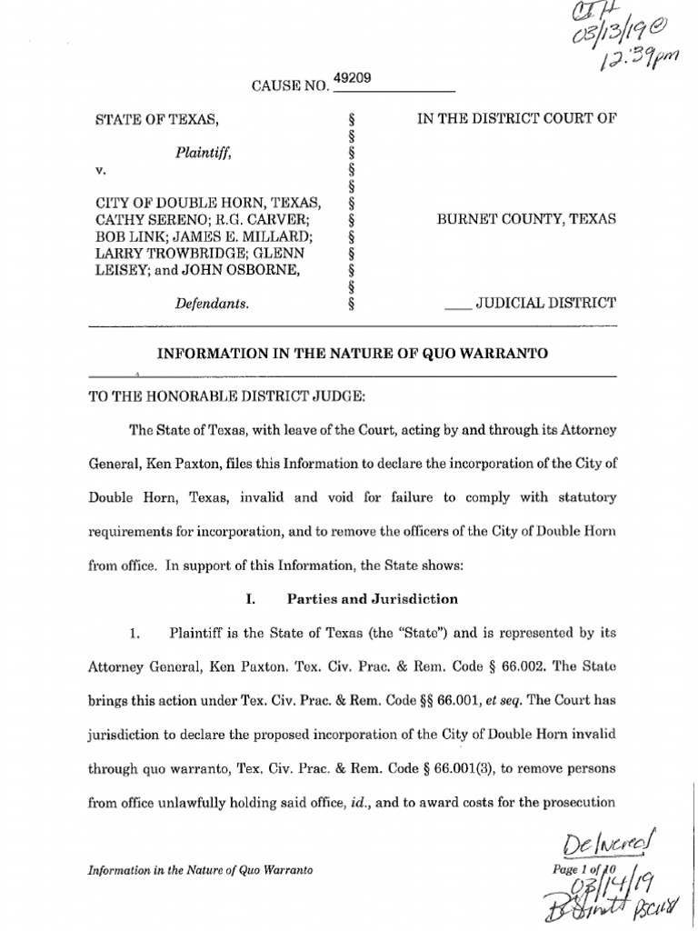New city of Double Horn sued by AG Ken Paxton just months