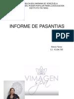 INFORME DE PASANTIAS VIMAGEN SPA