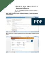 Tutorial Para Instalacion de Plug-In Matlab-Solidworks