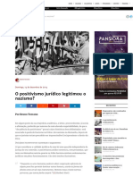 O positivismo jurídico legitimou o nazismo?