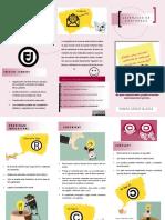 folleto de licencias de contenido