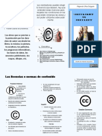 folleto de copyright y copyleft