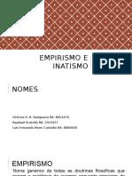 Empirismo e Inatismo 2