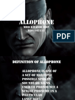 Phonology - Allophone.pptx