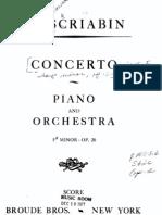 Scriabin Piano Concerto F sharp minor