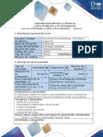 Guía de actividades y rúbrica de evaluación - Tarea 2