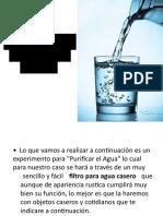 Purificador Casero de Agua