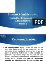 Evolucion Del Pens Administrativo Unid Sesion 2