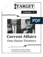 Current Affairs Onelinear Pointers for FPSC Tests