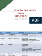 Biologia PPT - Classificação dos Seres Vivos