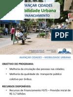 Avancar Cidades Mobilidade Urbana Apresentacao