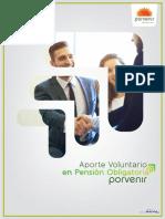 Aportes voluntarios pensiones