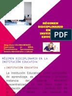 REGIMEN DISCIPLINARIO DE LAS IE LEY 29944.pptx