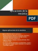Aplicacions de La Mecanica