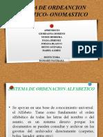 Sistema de Ordenación Alfabético- Onomastico