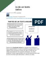 Estructura de Un Texto Argumentativo412