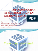 Pasos Para Configurar El Servidor Dhcp en Windows 2003 Server