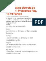 Ejercicios de Lógica Matemática