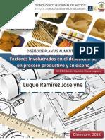 Factores Involucrados en El Desarrollo de Un Proceso Productivo y Su Diseño