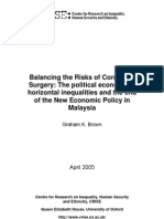 The Political Economy of Horizontal Inequalities and the End of the New Economic Policy in Malaysia