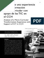 Análisis de una Experiencia de Transformación Micro-Curricular desde la Socioformación con apoyo de las TIC en el CCH
