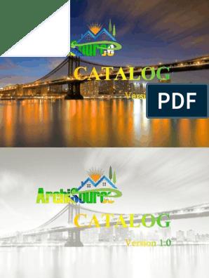 Archisource Catalog V1 0 Pdf Books E Books