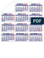 Mini Calendario 2019