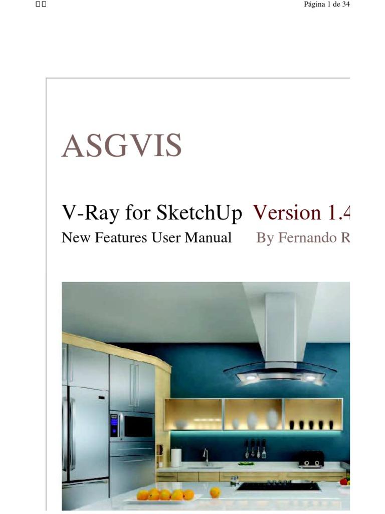 manual sketchup vray shadow rendering computer graphics rh scribd com Senator Sketch Ears Sketch Guide