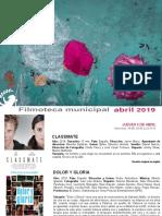 FILMOTECA de Coslada / Programación Abril 2019