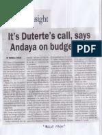 Malaya, Mar. 28, 2019, It's Duterte's call, says Anadaya on budget bill.pdf