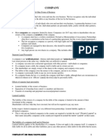 Company-Law Concise Notes