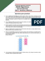 Algoritmos 2018-2 - Ejercicios Unidad 3