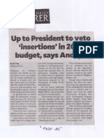 Philippine Daily Inquirer, Mar. 28, 2019, Up to President to veto insertions in 2019 budget, says Anadya.pdf