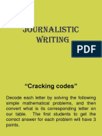 Journalistic writing