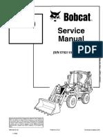 Bobcat B200 Loader Backhoe Service Repair Manual SN 570211001 AND Above.pdf