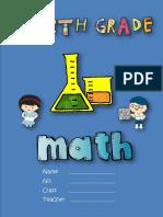 G4 Bilingual Math Workbook - Fall 2018