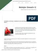 Tutorial Autocad _ Membuat Kop (Keterangan Detil) Gambar _ Draft _ Belajar Desain Grafis