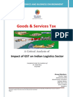 Impact of Gst on Indian Logistics Sector