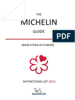 Michelin Guide Main Cities of Europe 2019