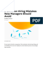3 Common Hiring Mistakes New Managers Should Avoid