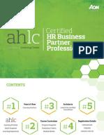 AHLC Catalog Certified HR Business Partner