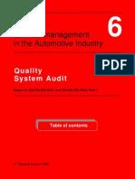 Vda 6-1 Quality System Audit