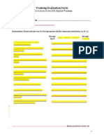Sample Evaluation Forms