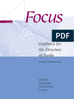 Focus 2 Guidance for Directors of Banks