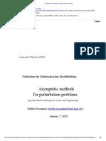 Asymptotic Methods for Perturbation Problems