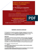 Beginners Linguistics Workshop