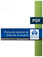 Protocolo General de Atención Al Usuario